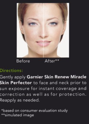 Garnier BB Cream Simulated Image