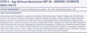 nue science moisturizer ingredients