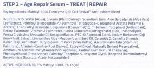 Nue Science serum ingredients