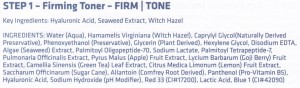 nue science toner ingredients