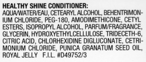 Loreal Healthy Shine Conditioner Ingredients