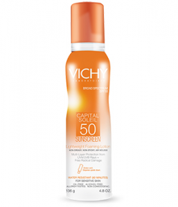 Vichy Capital Soleil SPF 50 Lightweight Foaming Sunscreen Lotion