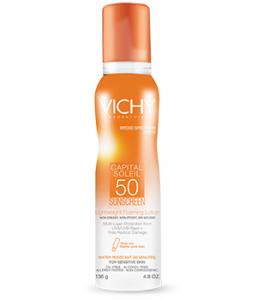 Vichy Capital Soleil SPF 50 Lightweight Foaming Sunscreen Lotion